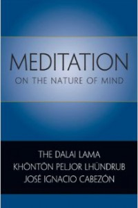 "bookcover of book by jose cabezon titled ""Meditation On the nature of mind"""