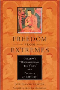 "bookcover of Jose Ignacio Cabezon and another author's book ""Freedom from Extremes"""
