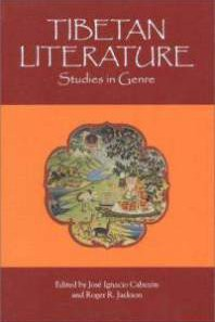 "bookcover of book edited by jose cabezon and another person, book titled ""Tibetan Literature: Studies in Genre"""